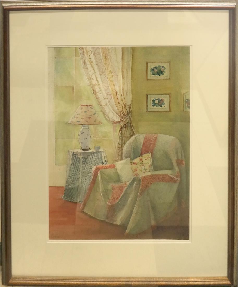 Arlene Cornell - NY Interior - Watercolor - 2