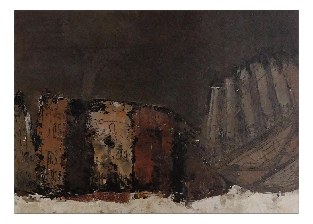 William Congdon, Abstract View Piazza Rome, No. 3