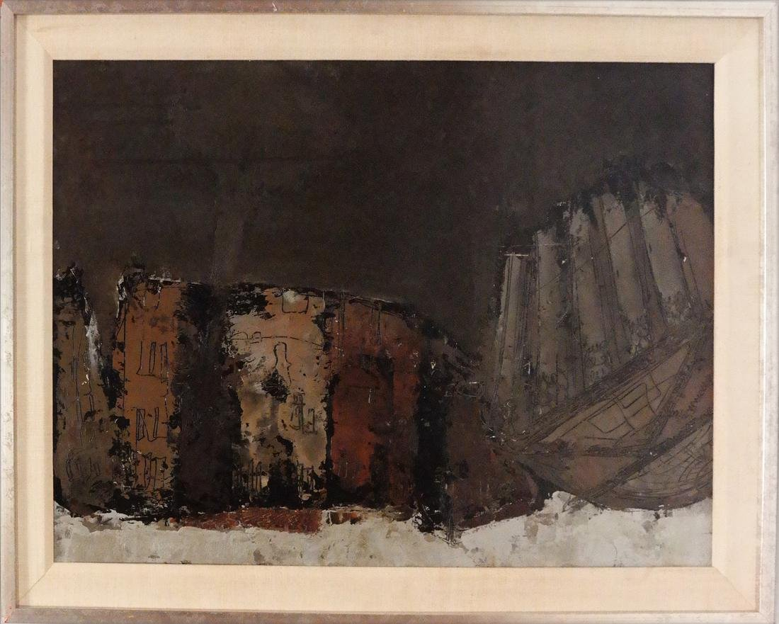 William Congdon, Abstract View Piazza Rome, No. 3 - 2