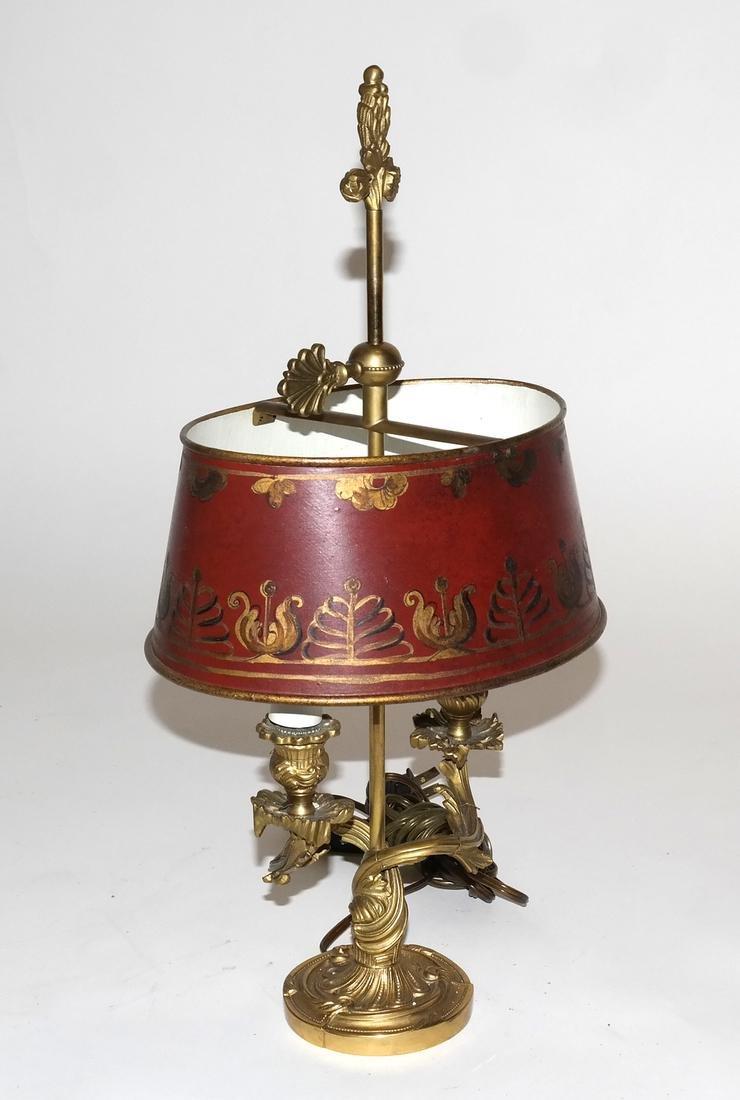 Bronze Dore Louis XV Style Boudoir Lamp