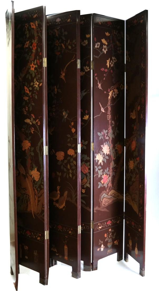 8-Fold Japanese Floor Screen