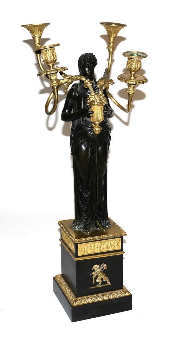 Neoclassical Bronze Candelabra