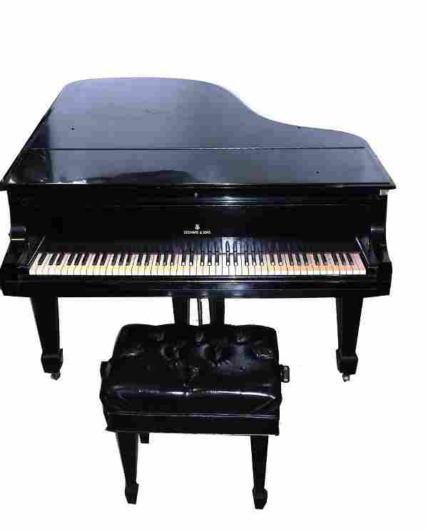Steinway & Sons Model B Grand Piano and Bench