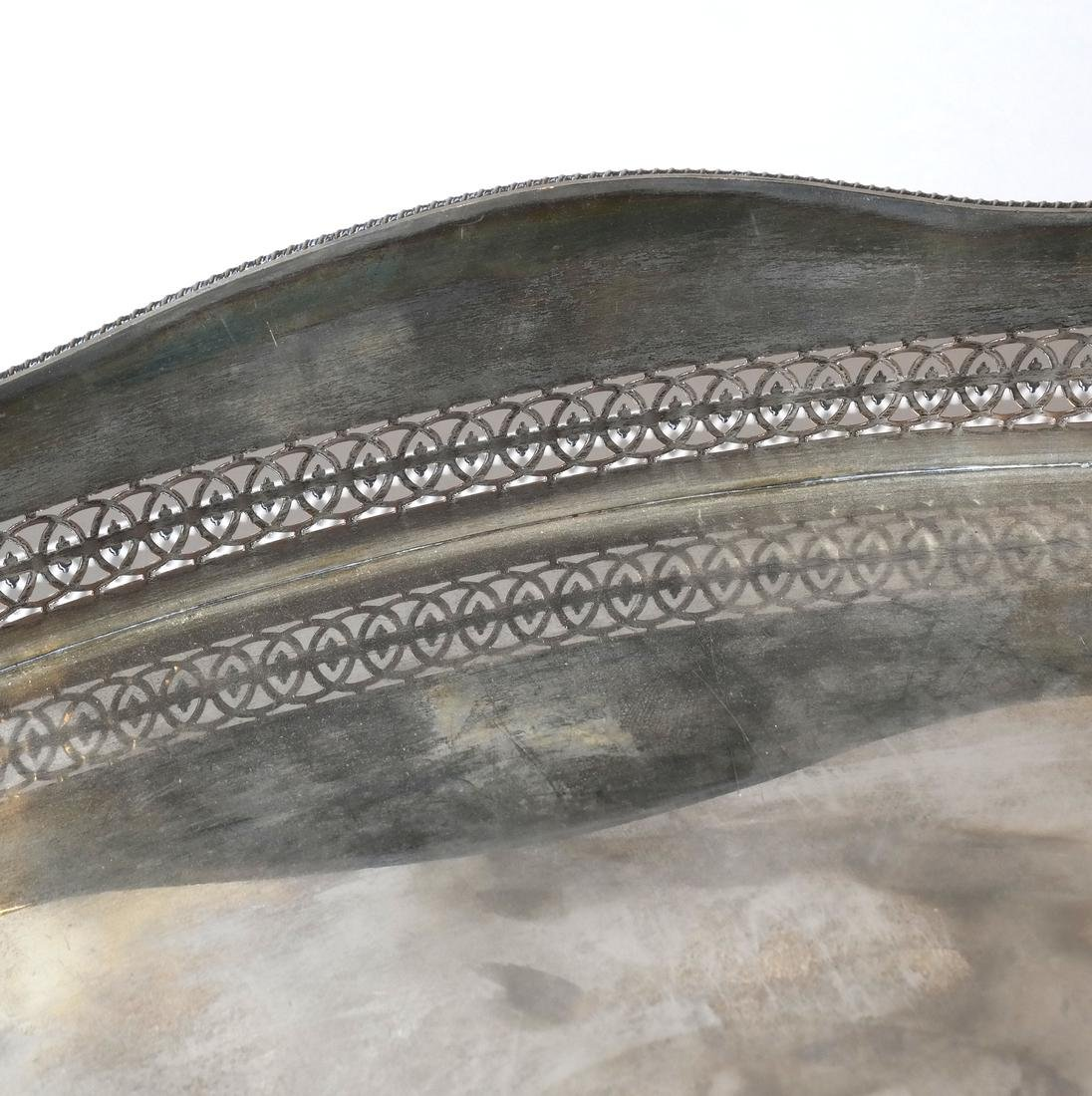 Large Silver-Plated Tray - 3