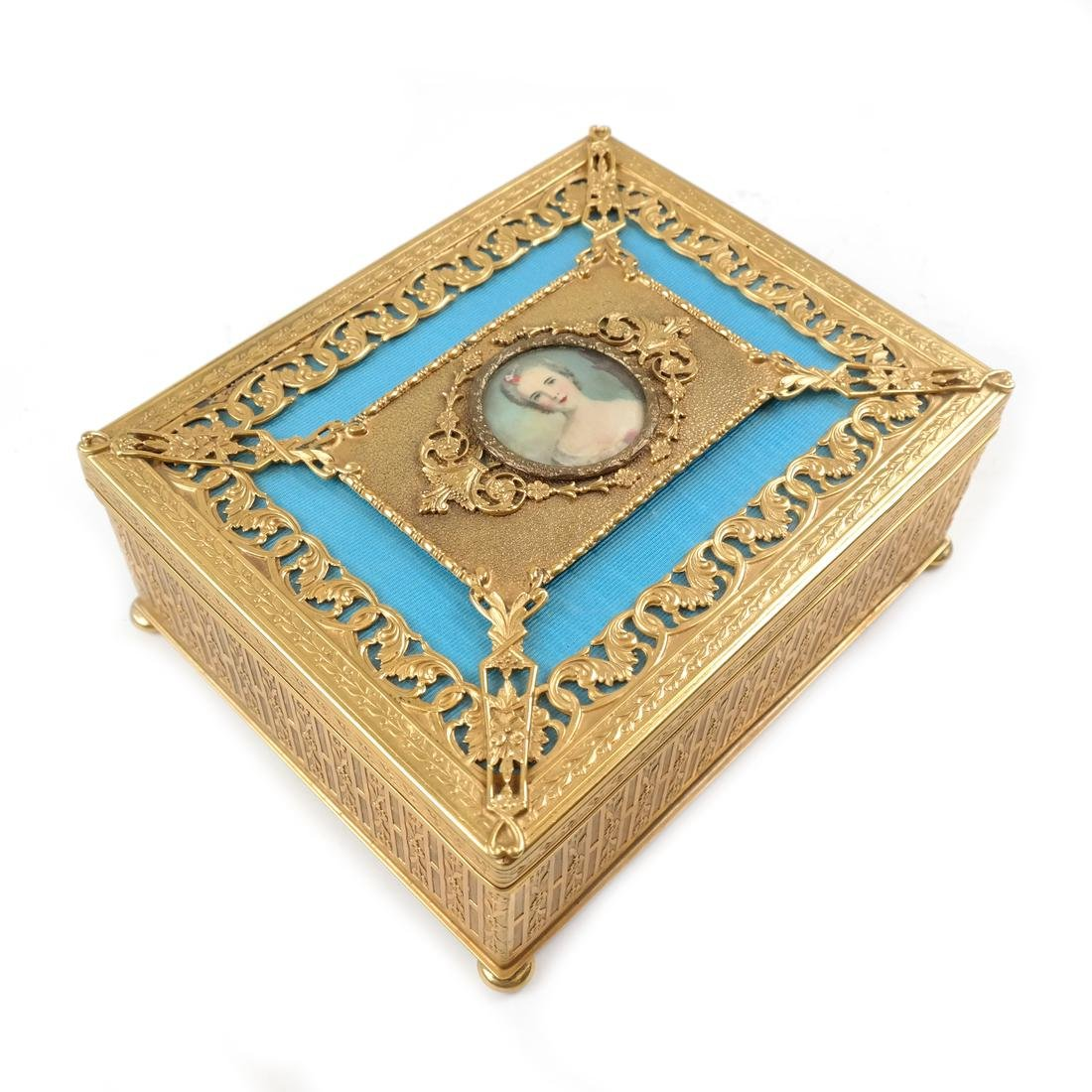 Gilt Brass Hinged Box