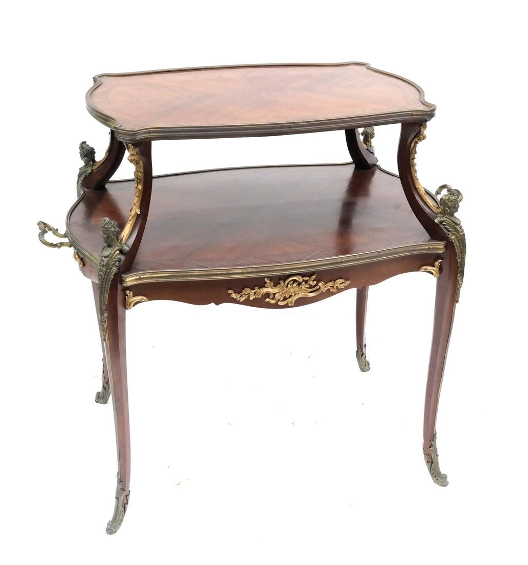 19th Century French Figural Two-Tier Table
