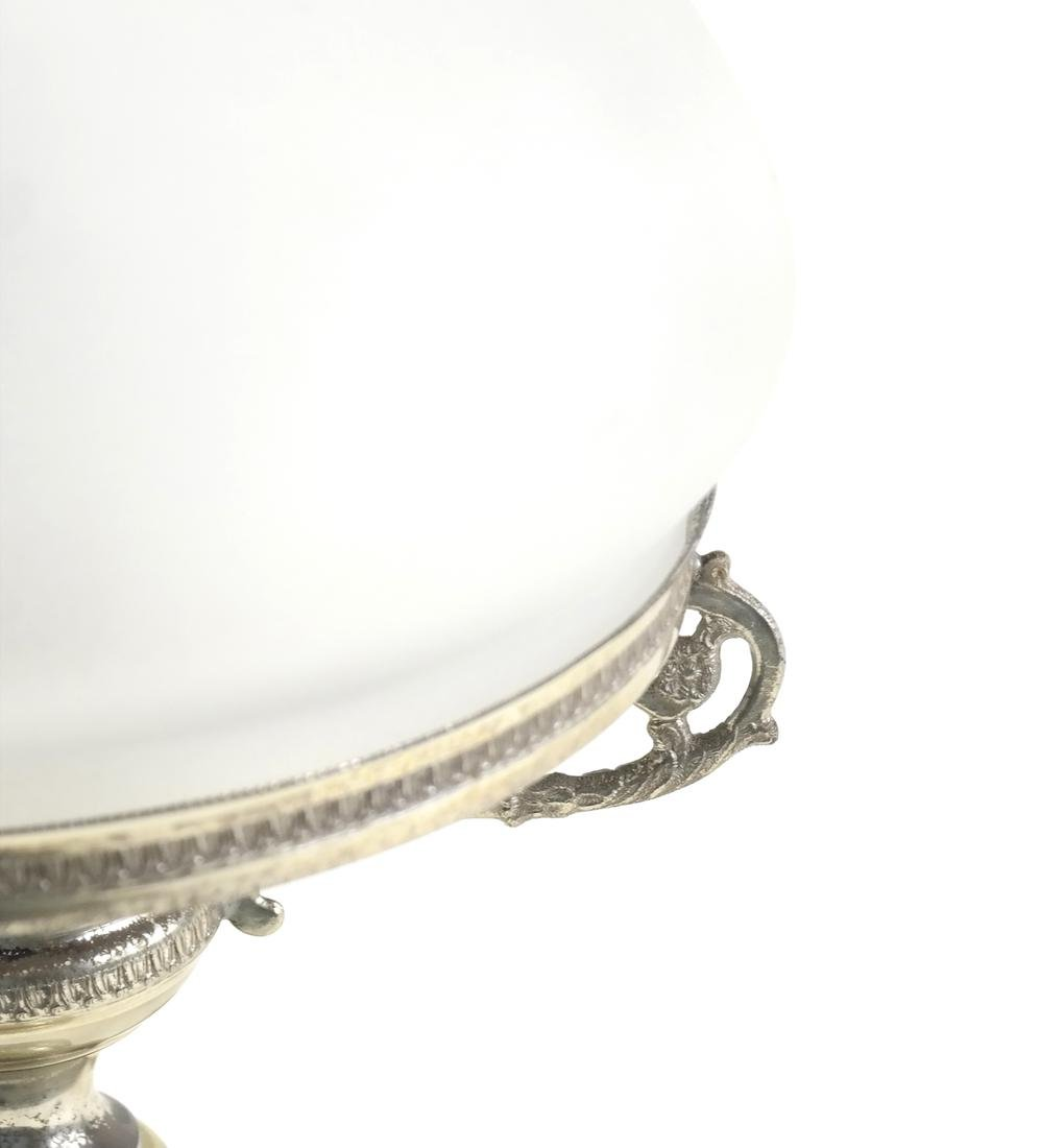 Onyx and Silver Plate Lamp - 4