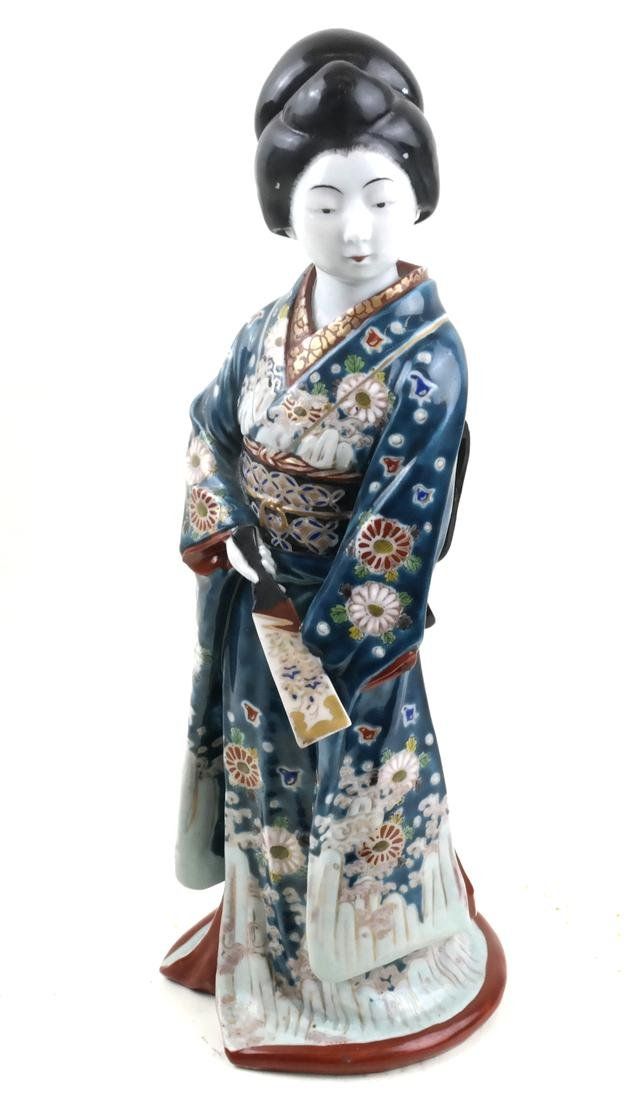 Ceramic Sculpture of a Decorated Geisha
