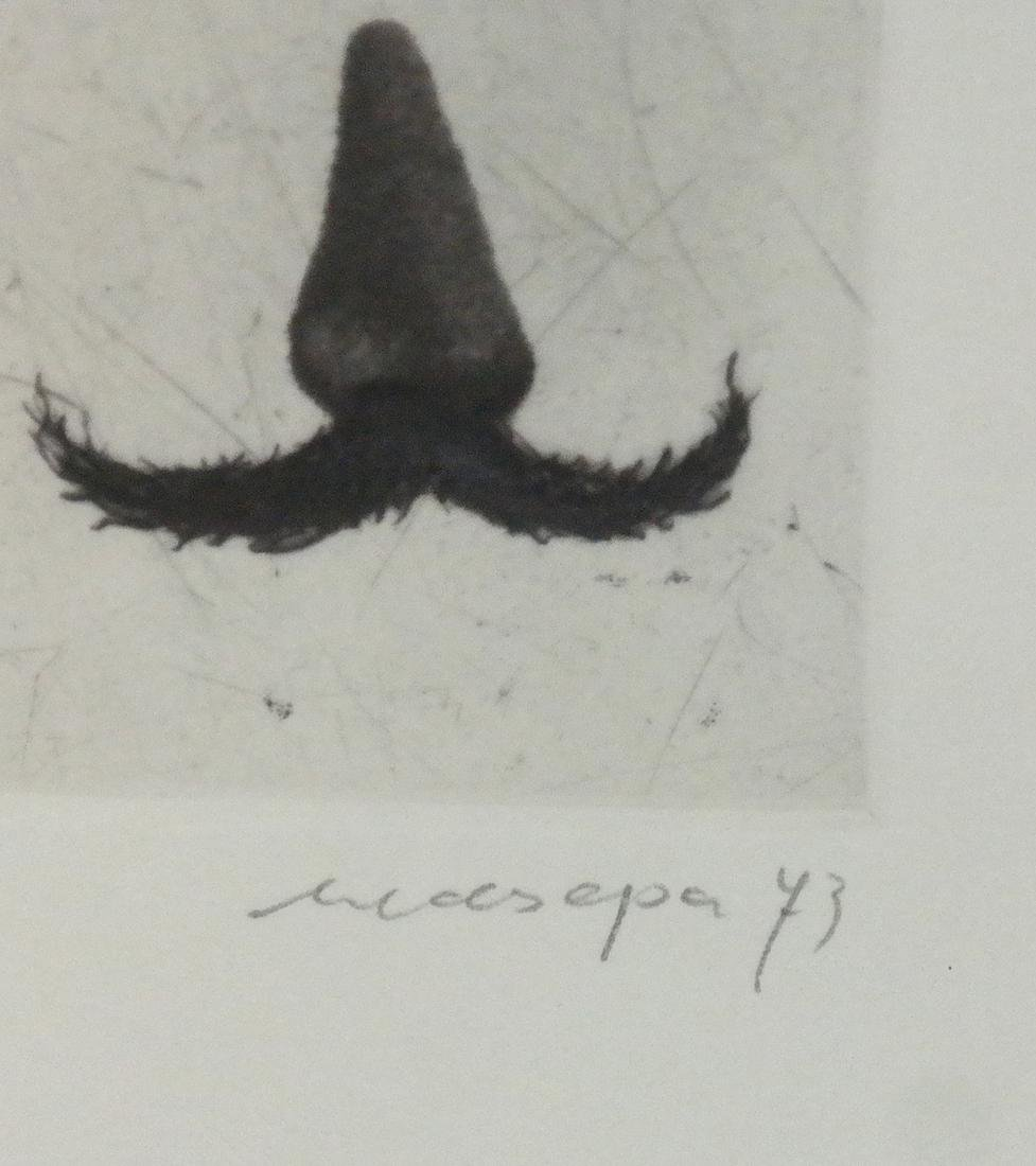 Contemporary Art Etching - Nose and Moustache - 3