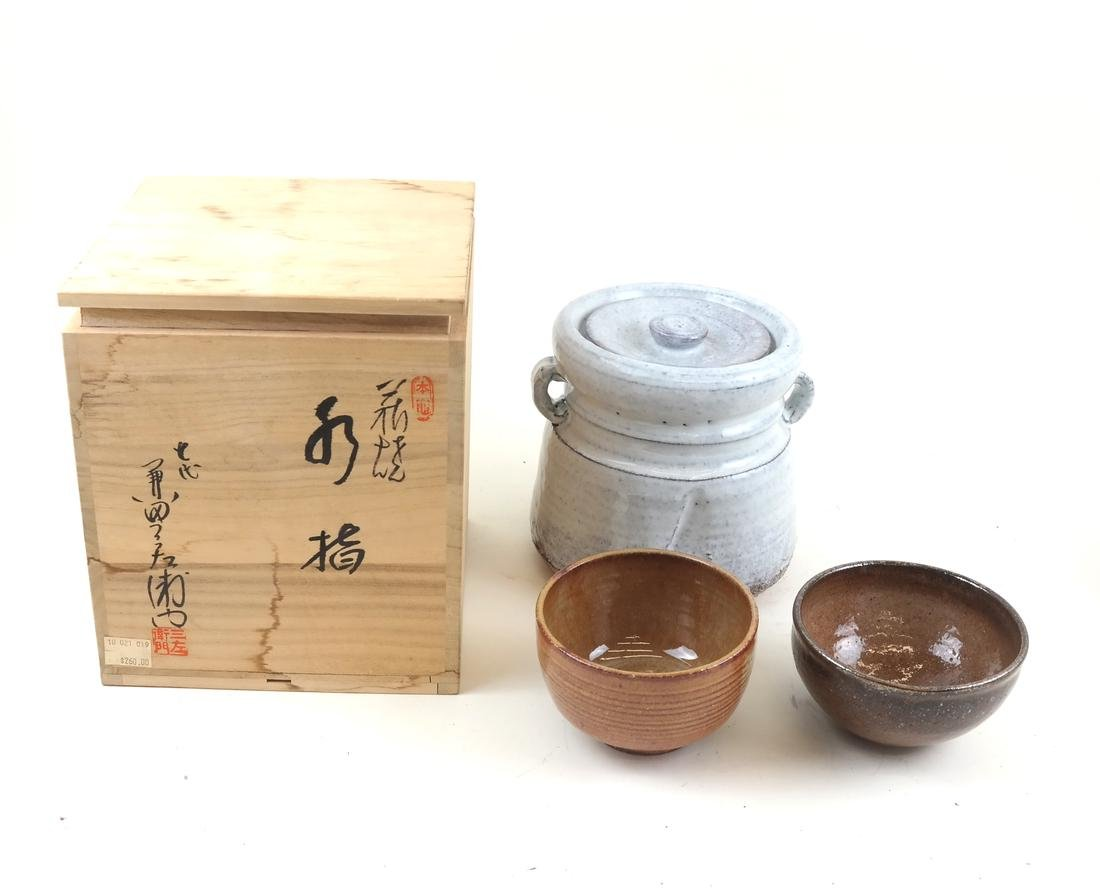 Japanese Studio Ceramics, Lot of Three