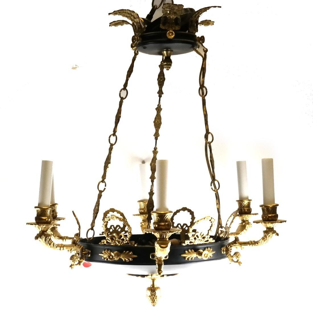 Empire-Style 6-Light Chandelier