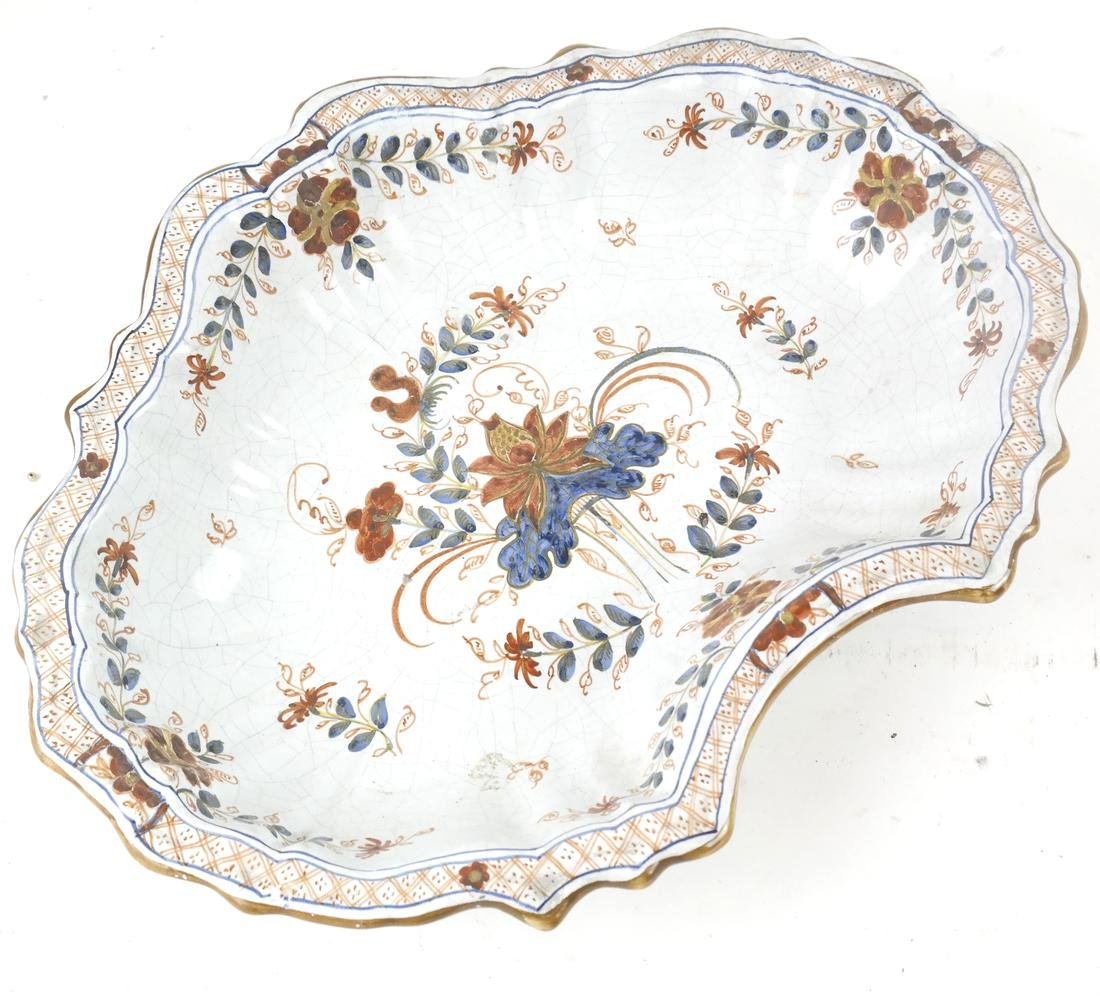 Two Majolica Pieces, a Dish and Serving Bowl - 2