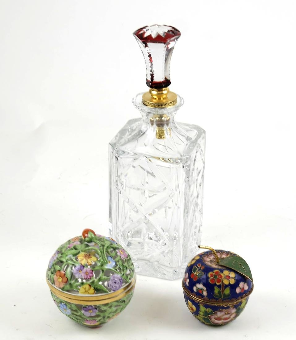 Decanter, Enamel Box, Herend Box, Faberge Stopper