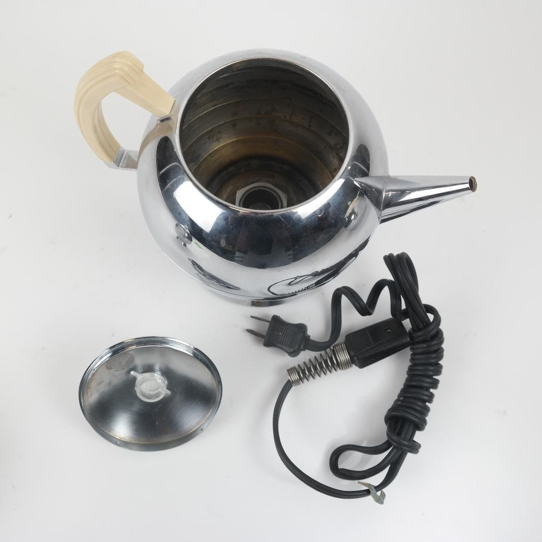 Three Piece Bakelite and Chrome Tea Set by Chase - 4