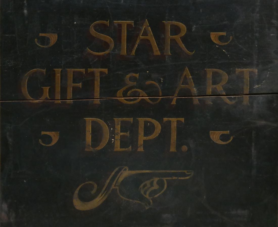 Vintage Advertising Sign - Star Gift and Art Dept.