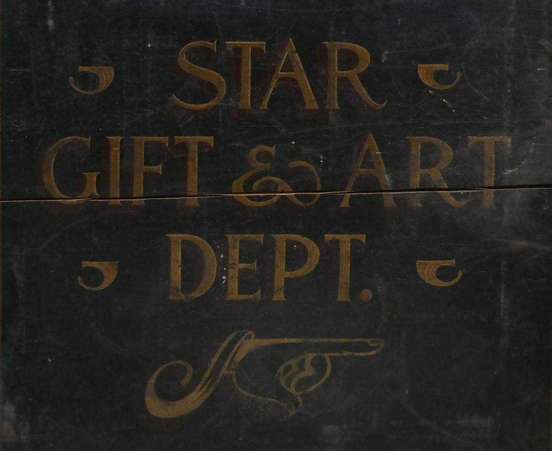 Vintage Advertising Sign - Star Gift and Art Dept.