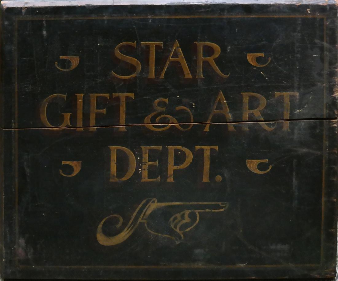 Vintage Advertising Sign - Star Gift and Art Dept. - 2