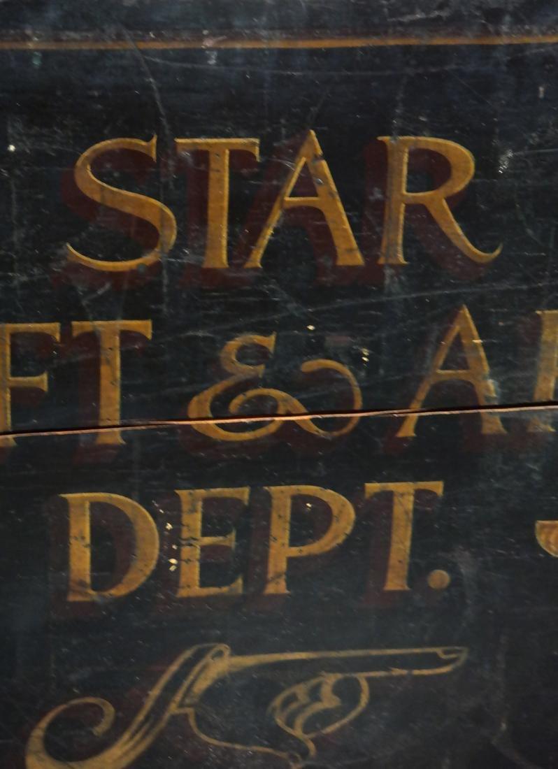 Vintage Advertising Sign - Star Gift and Art Dept. - 3
