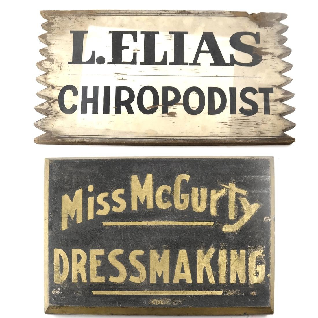 Two Vintage Advertising Signs
