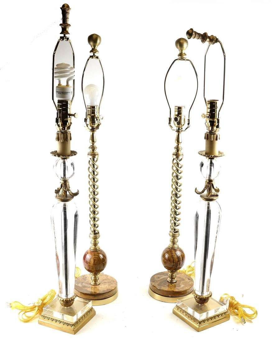 Two Pairs of Modern Lamps