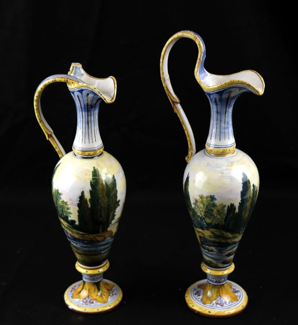 Pair of Porcelain Decorated Ewers