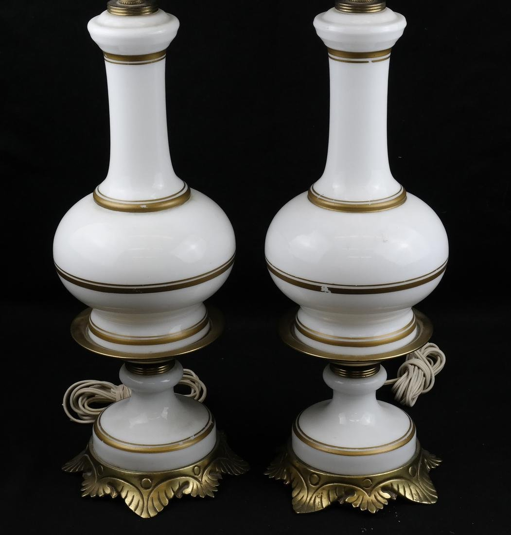 Pair of White Porcelain Lamps - 2