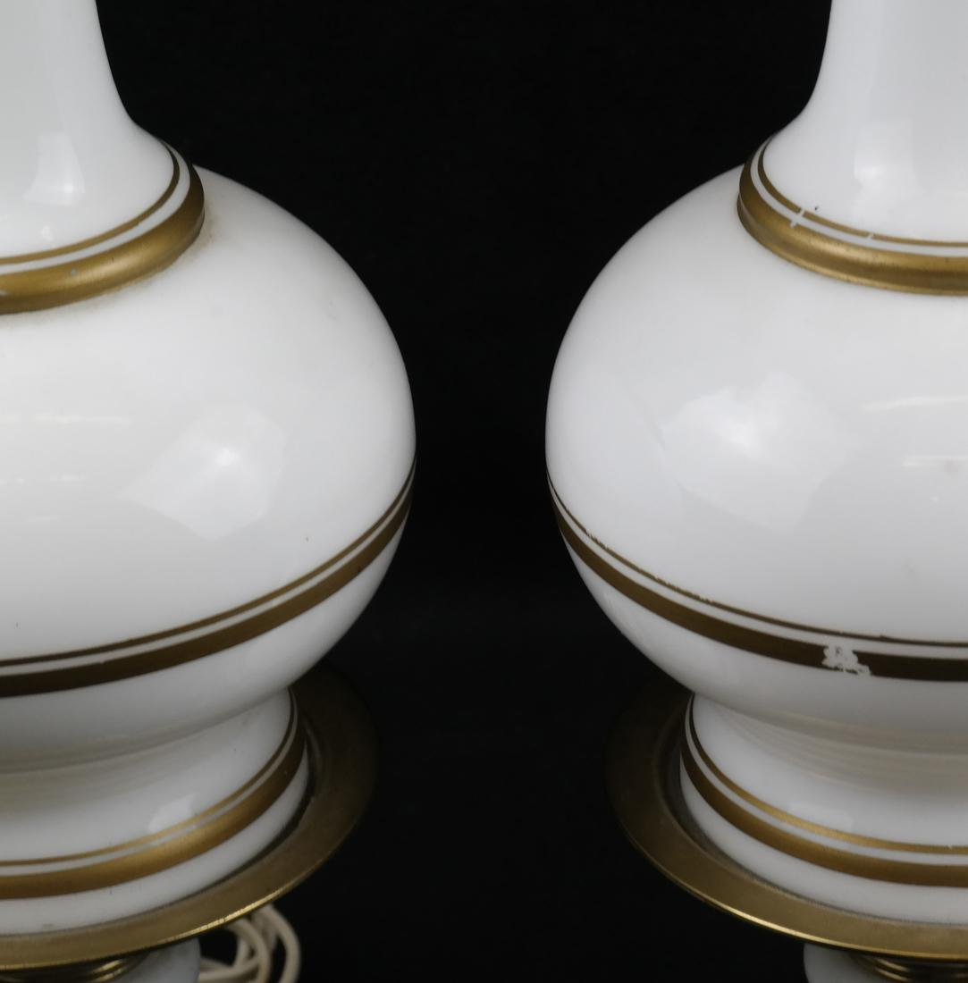 Pair of White Porcelain Lamps - 3