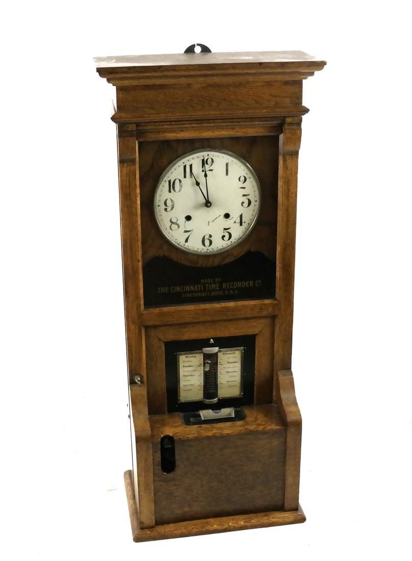 Vintage Oak Time Recorder, Cincinnati, USA