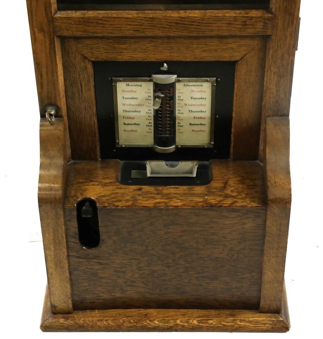 Vintage Oak Time Recorder, Cincinnati, USA - 2