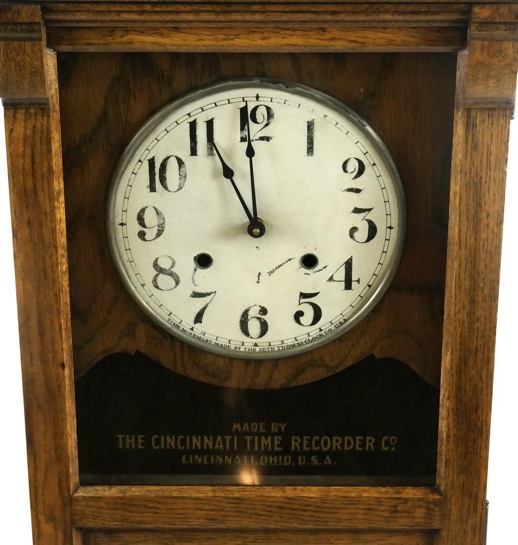 Vintage Oak Time Recorder, Cincinnati, USA - 3