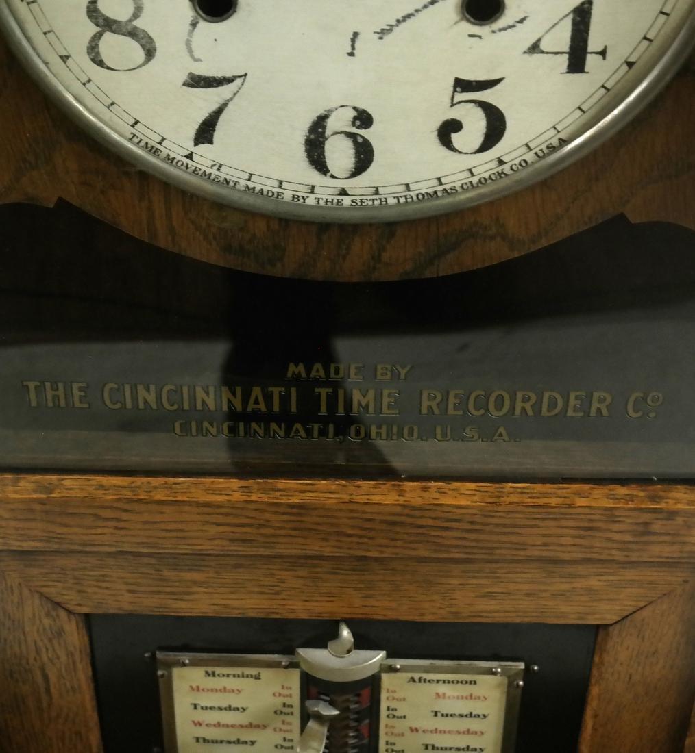 Vintage Oak Time Recorder, Cincinnati, USA - 4