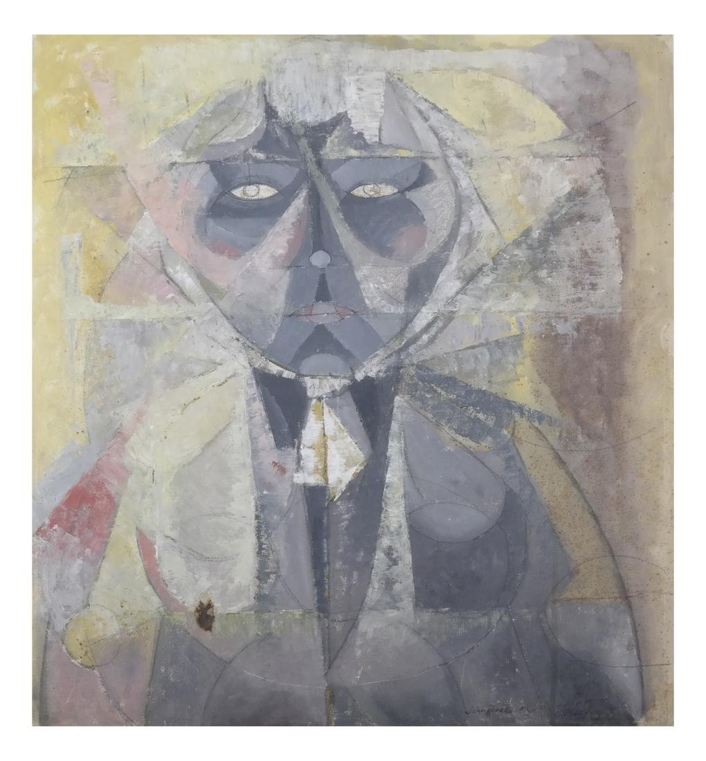 Julio Rosado del Valle, Portrait, Oil on Canvas Board