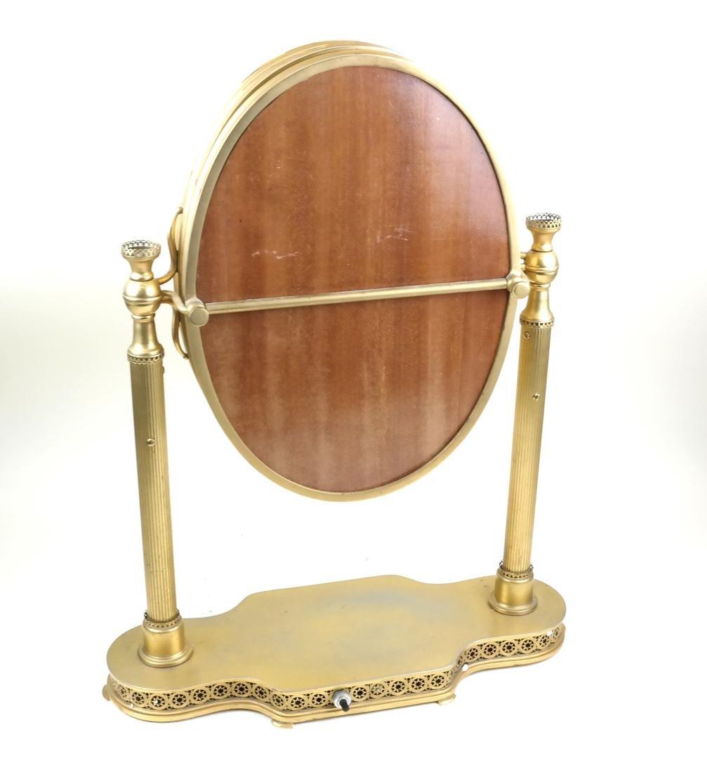 French Bronze Dore Triptych Vanity Mirror - 3