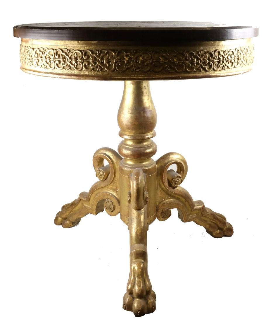 19th C. Continental Boulle & Mother-of-Pearl Table