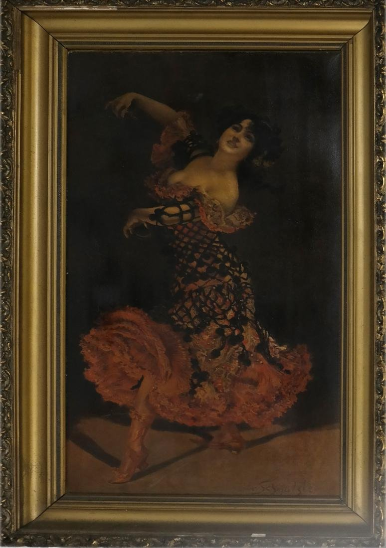 Leopold Schmutzler, Flamenco Dancer - Print on Canvas - 2