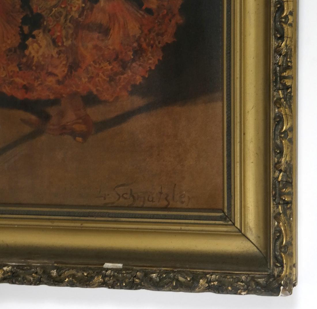 Leopold Schmutzler, Flamenco Dancer - Print on Canvas - 3