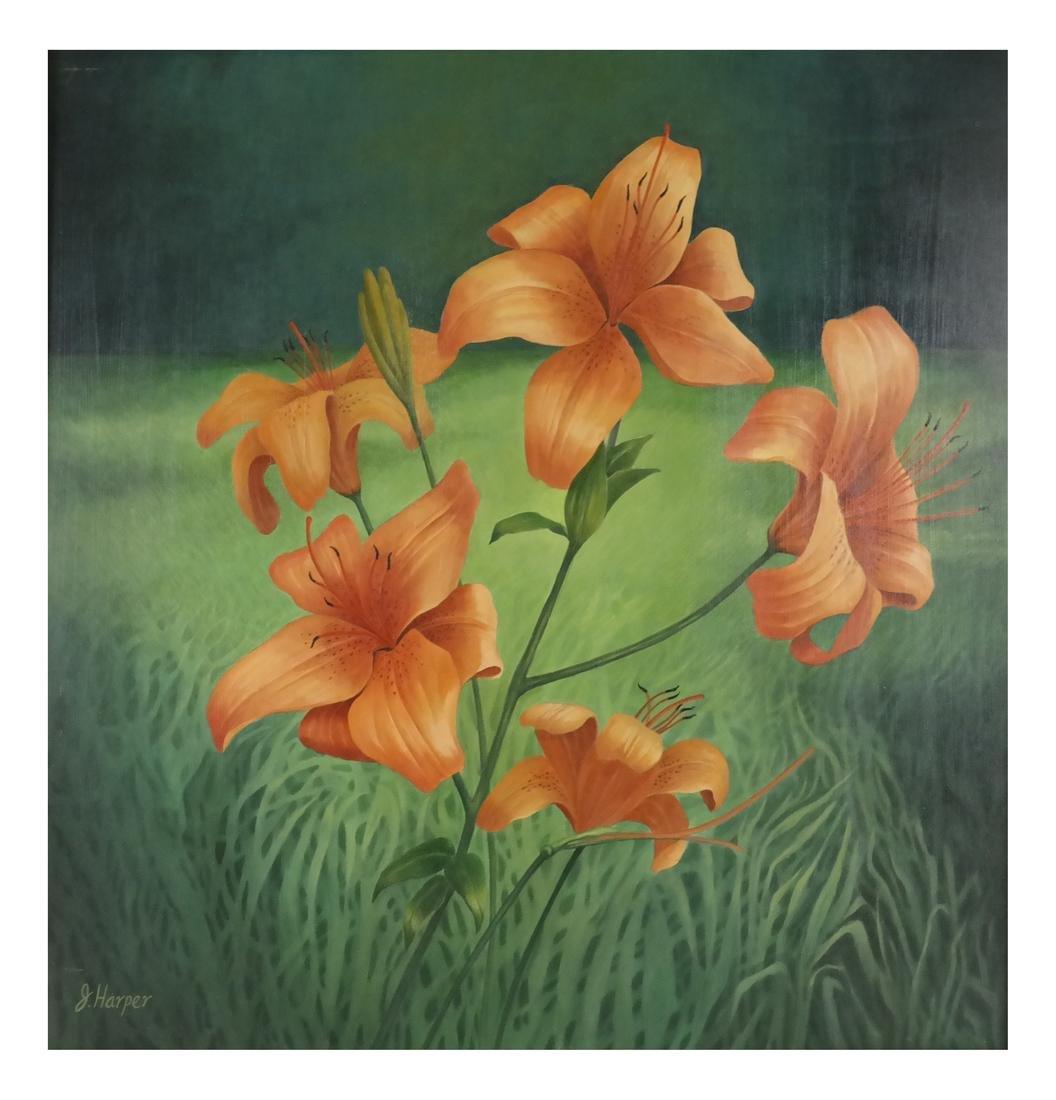 Judith Harper, Acrylic on Board - Flowers