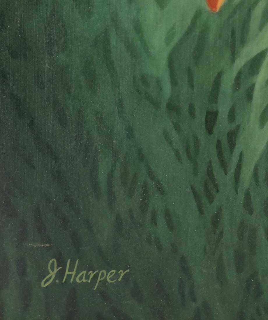 Judith Harper, Acrylic on Board - Flowers - 3