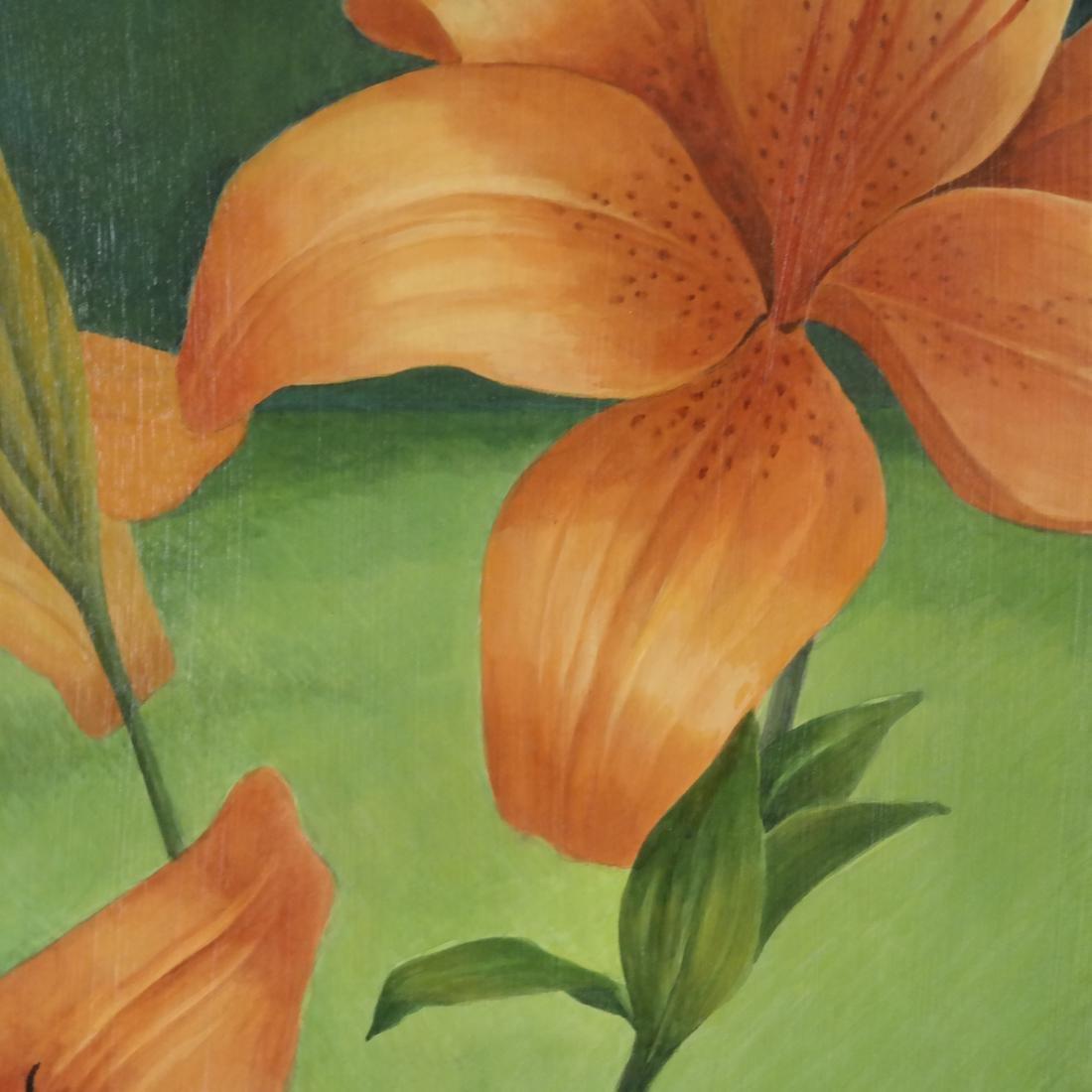 Judith Harper, Acrylic on Board - Flowers - 4