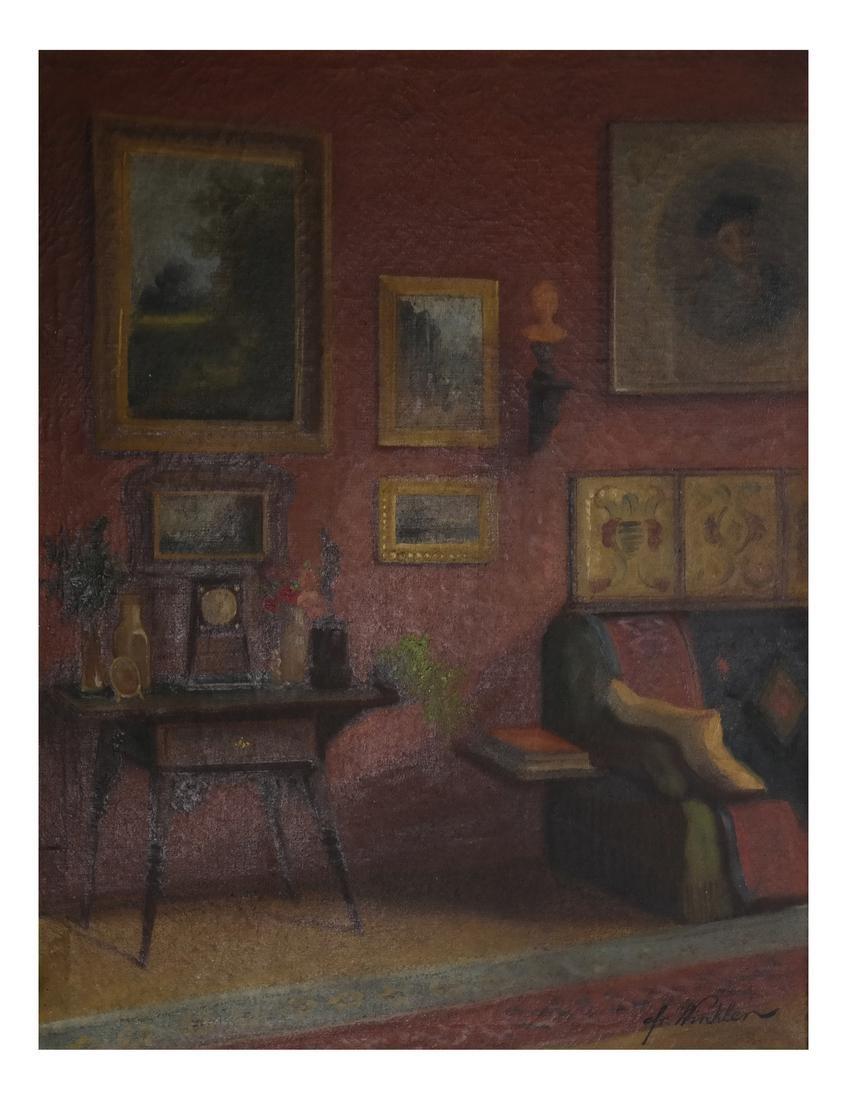 Winkler - Interior Scene - Oil on Canvas