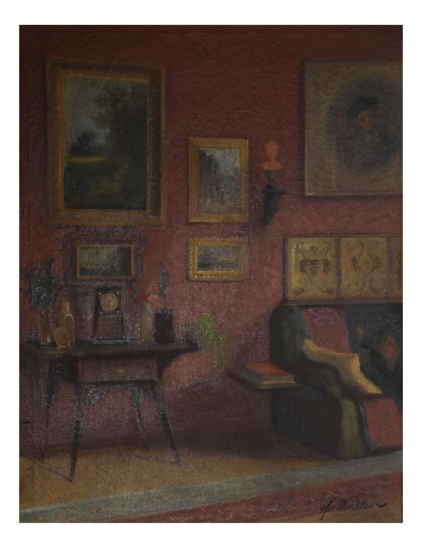 Winkler - Interior Scene - Oil on Canvas