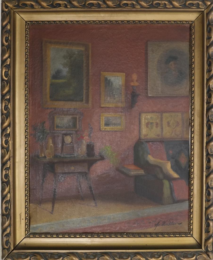 Winkler - Interior Scene - Oil on Canvas - 2