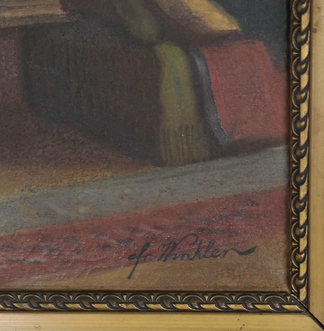 Winkler - Interior Scene - Oil on Canvas - 3