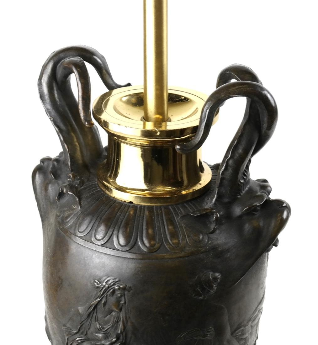Bronze Relief Form-Urn Lamp by Barbedienne - 2