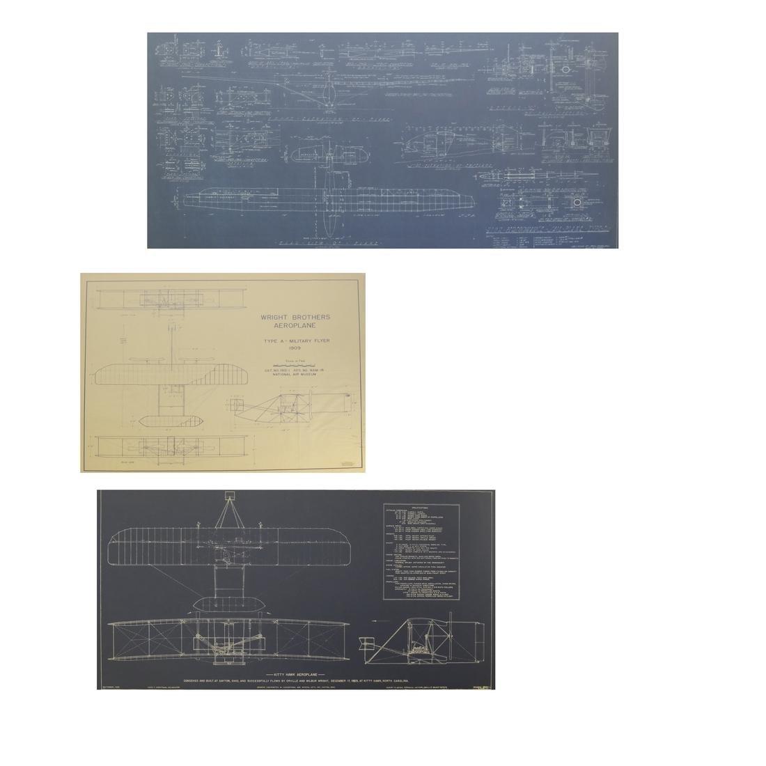 Three Aviation Blueprint Posters