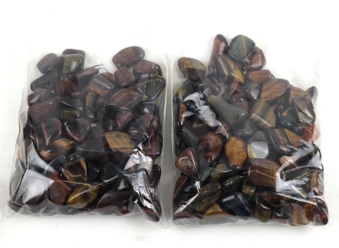 2 Bags of Tiger Eye Gemstones - 2