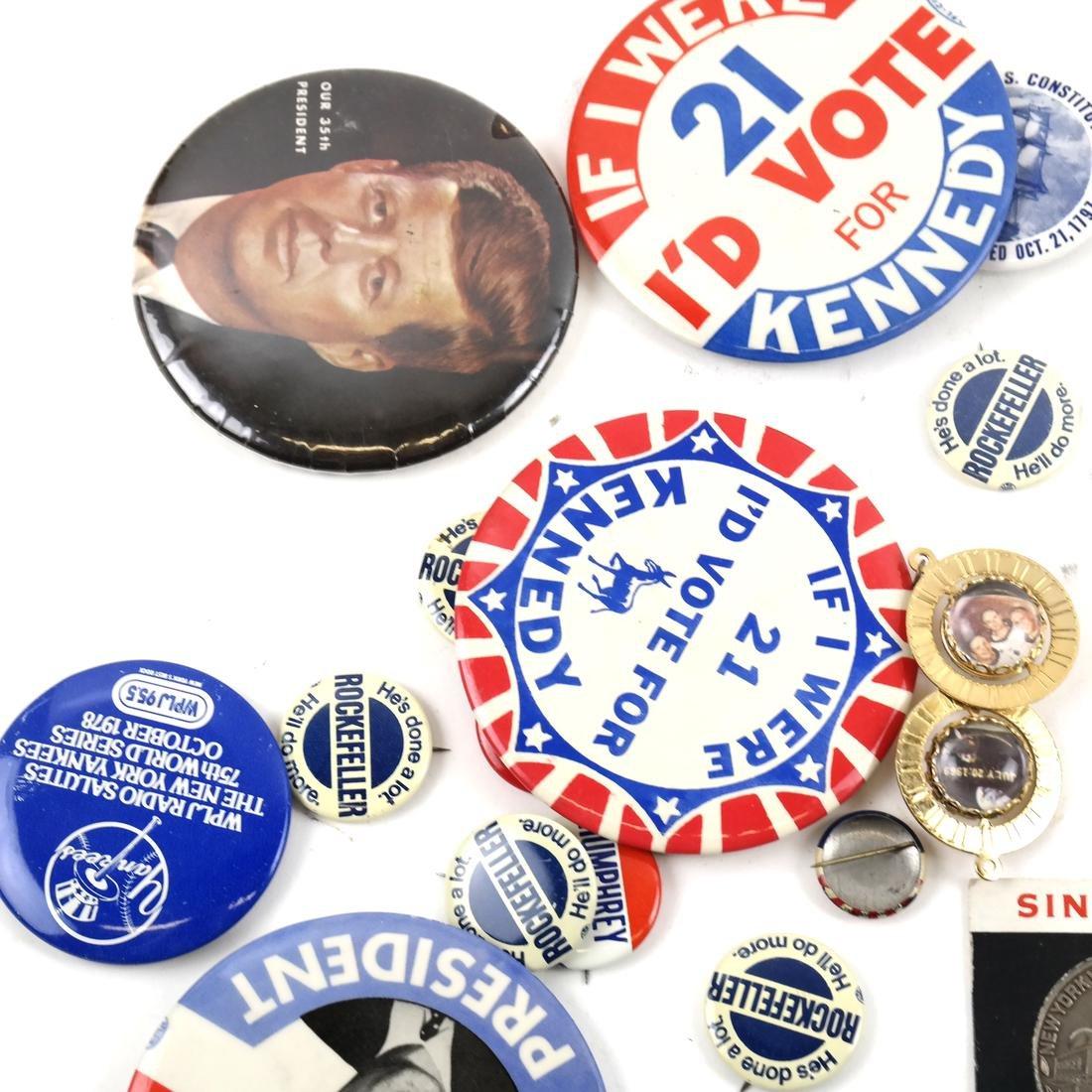 Political Pins and Memorabilia - Kennedy and Nixon - 2