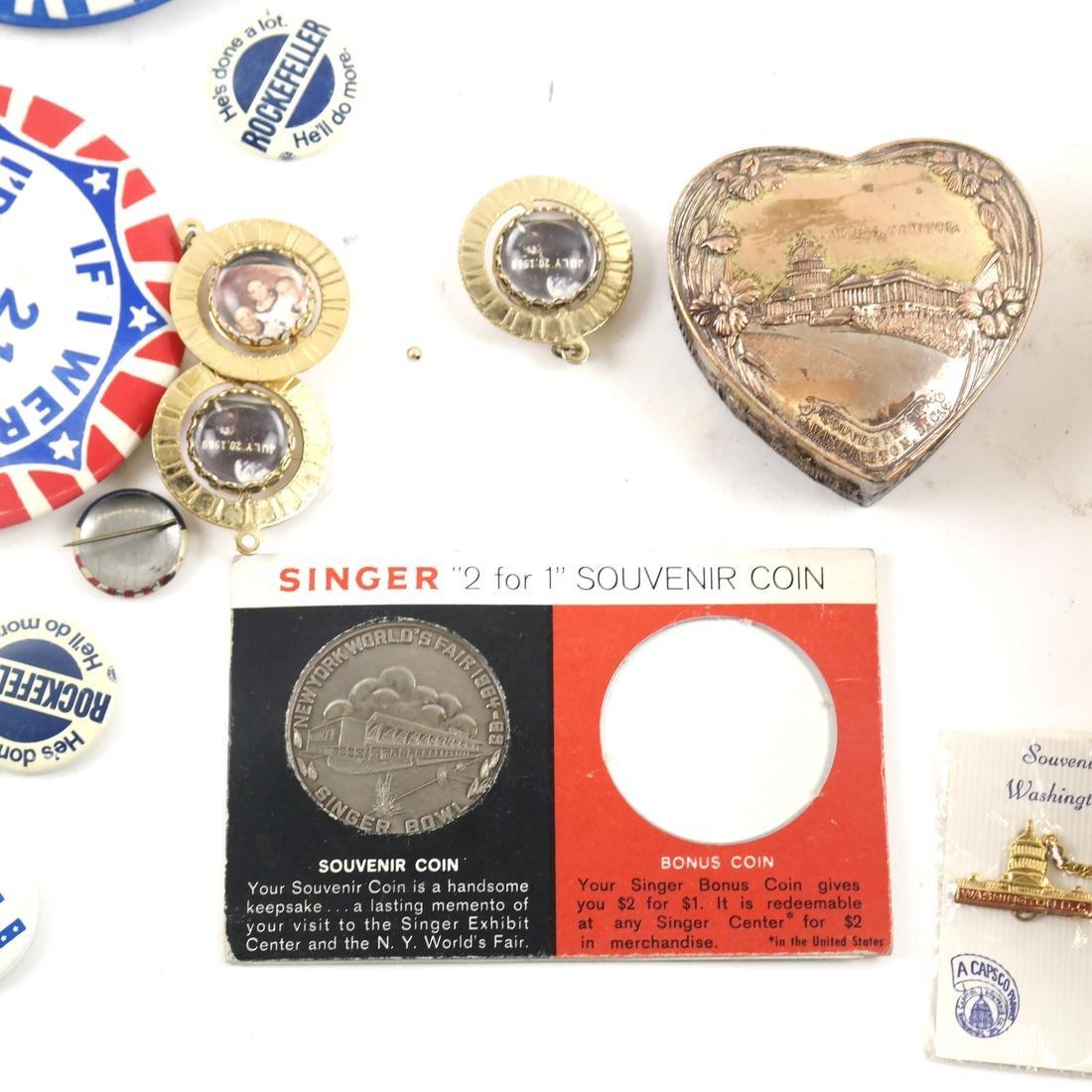 Political Pins and Memorabilia - Kennedy and Nixon - 3