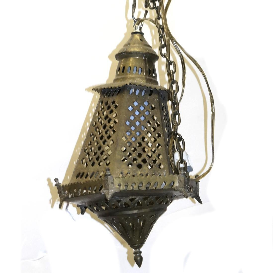 Lighthouse-Form Reticulated Lantern