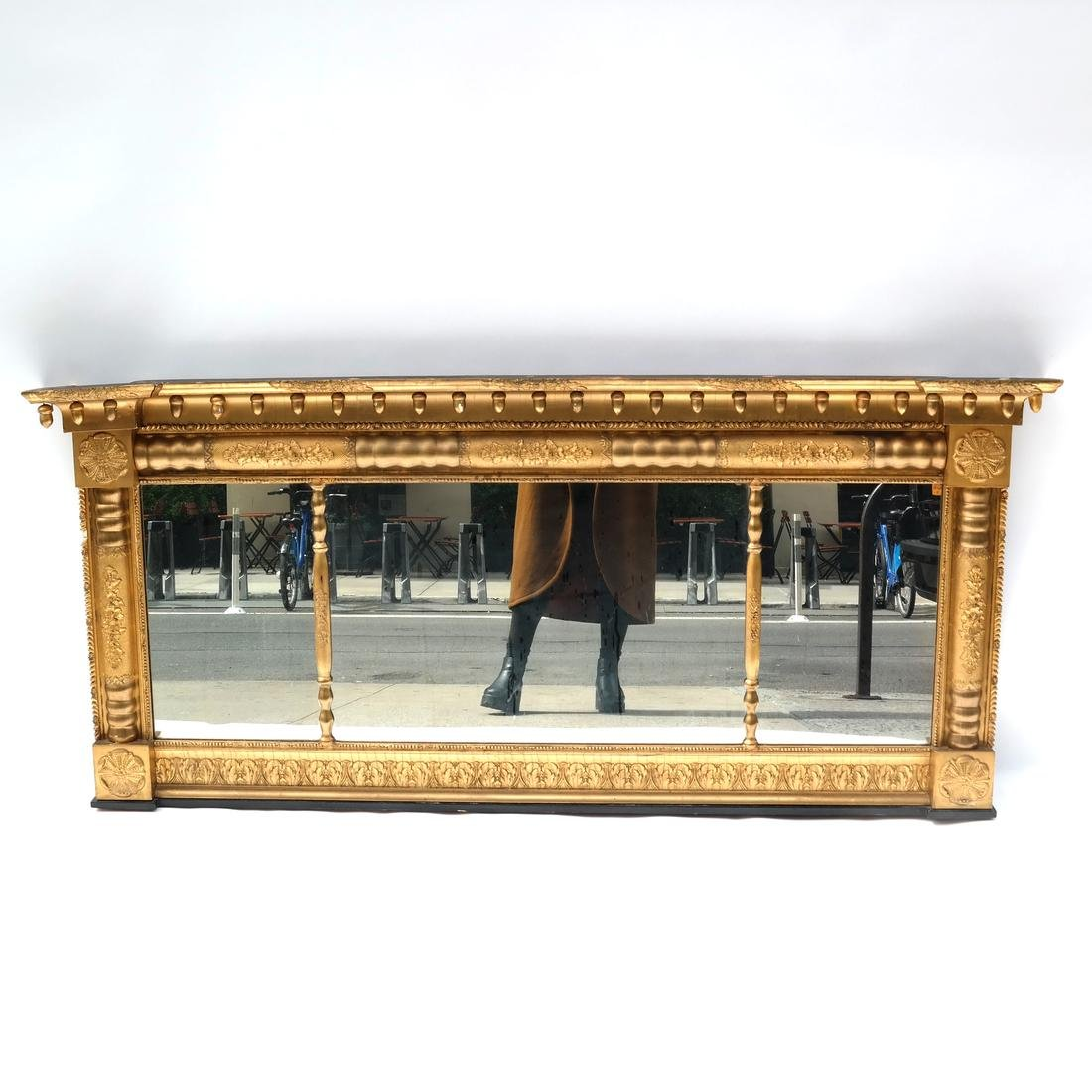 19th Century American Overmantle Mirror